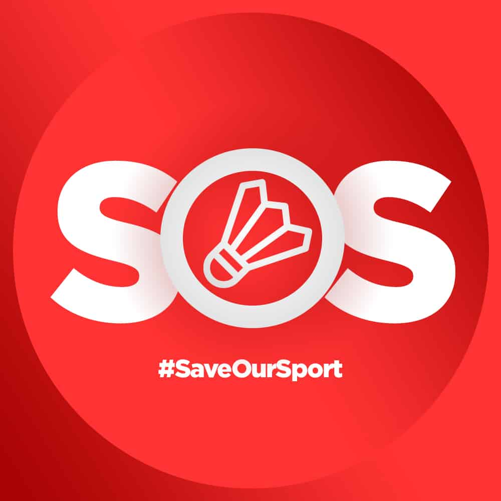 SOS Badminton - #saveoursport