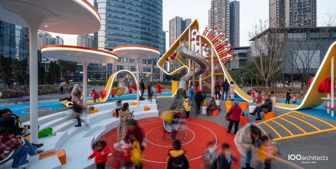 une aire de jeux incroyable par 100 architects