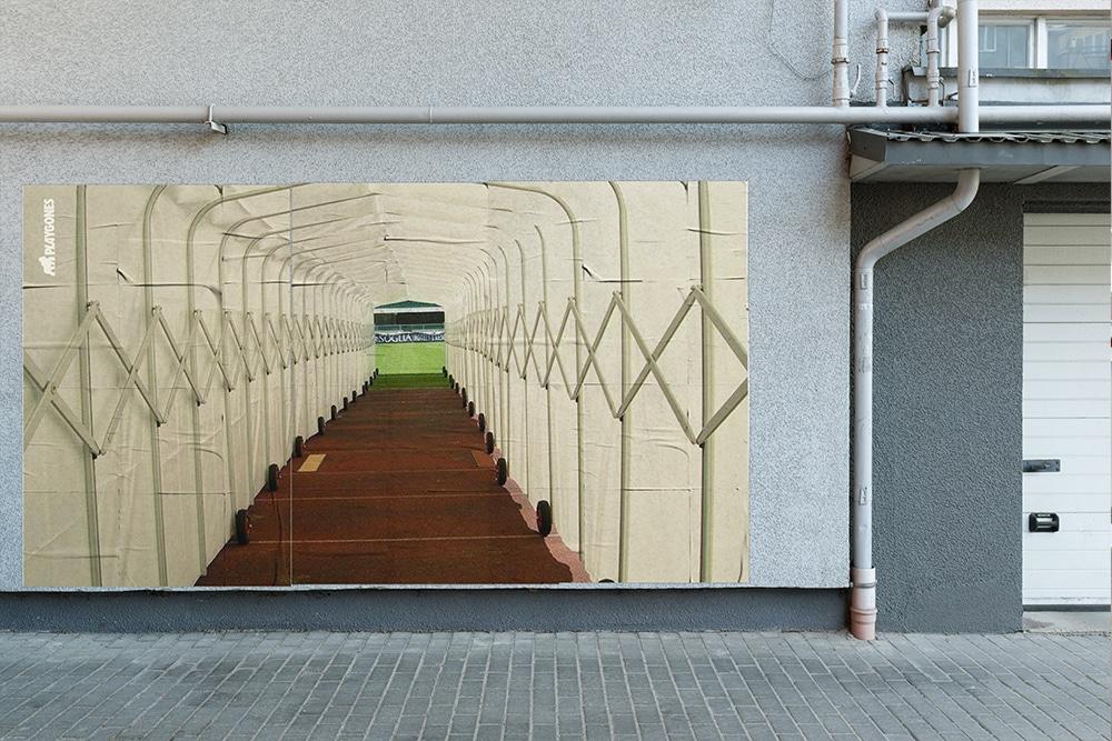 Tunnel d'accès - sport de rue - marketing sportif et propagande active