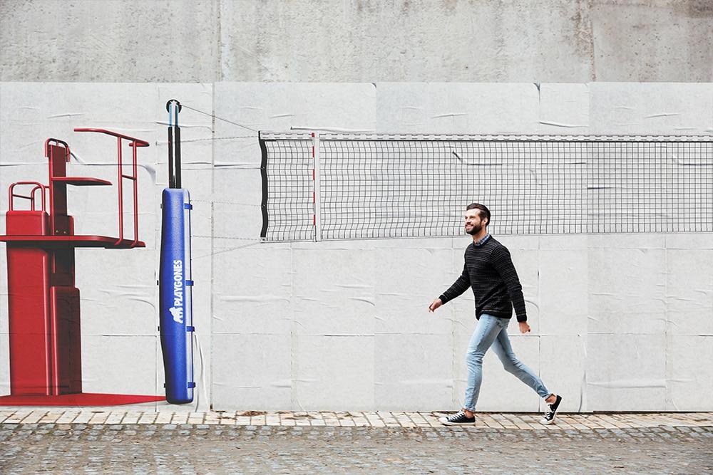 Volley - sport de rue - marketing sportif et propagande active