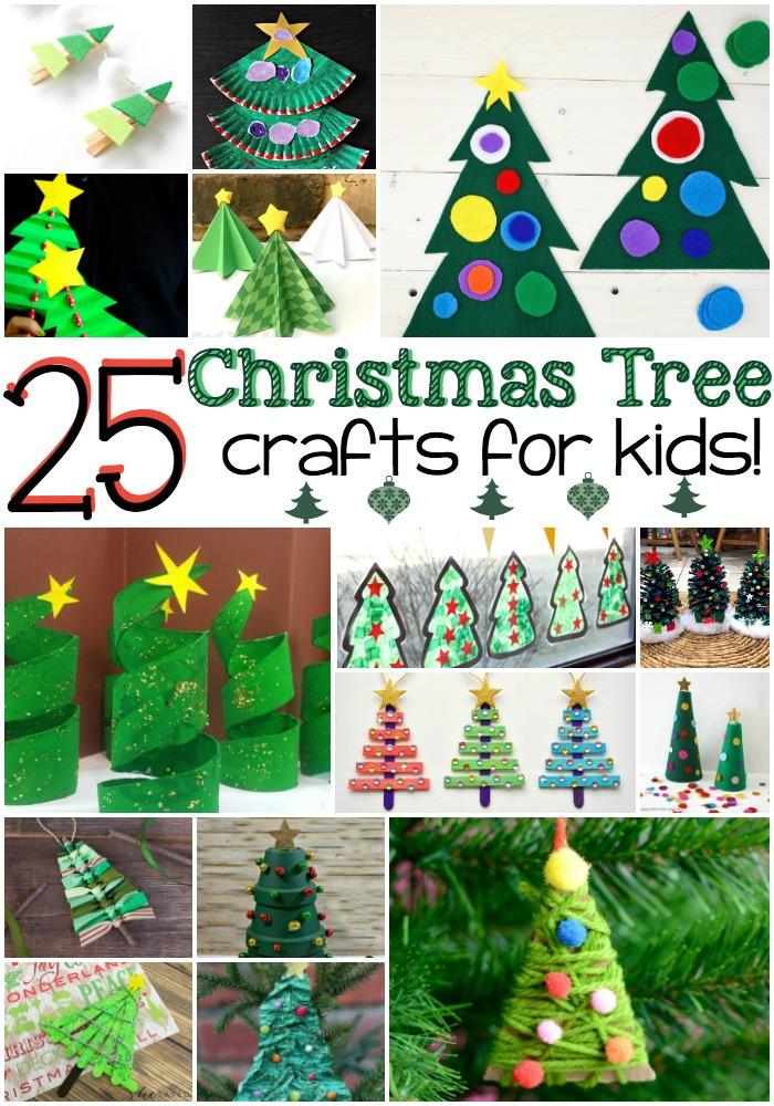 Art Christmas Kids Tree Projects