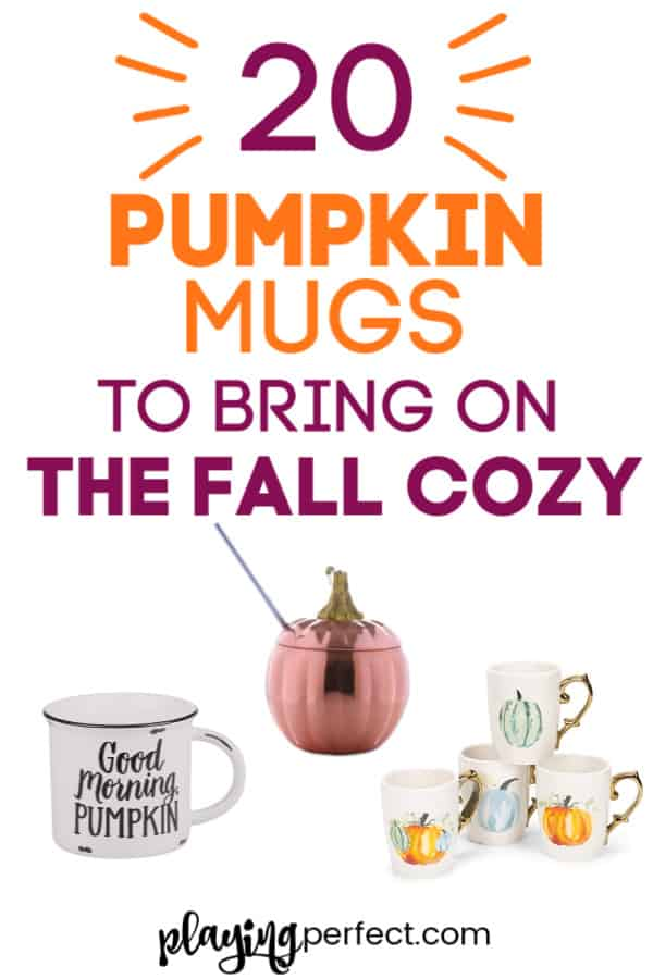Pumpkin Mugs To Bring On The Fall Cozy Playing Perfect
