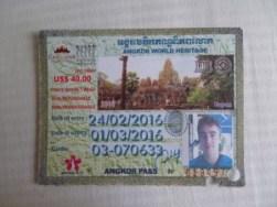 Pass 3 jours pour les temples de Angkor au cambodge