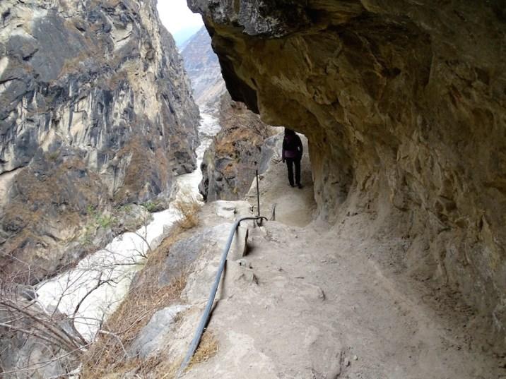 Derniers mètres avant d'arriver au rocher du saut du tigre.
