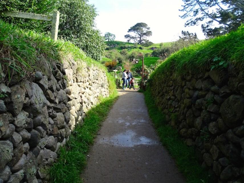 Le chemin d'arrivée de Gandalf