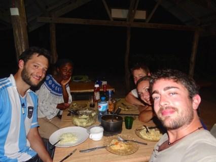 Avec Guido l'Argentin et Markus & Norah les Allemands