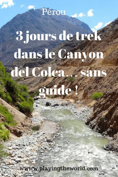 3 jours de trek dans le canyon del colca