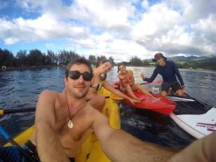 A Tahiti pour voir les dauphins.