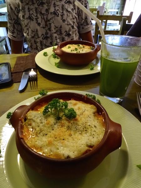Lasagnes végétariennes, Organika, Cusco