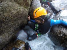 Canyoning dans les gorges du chassezac en Lozère