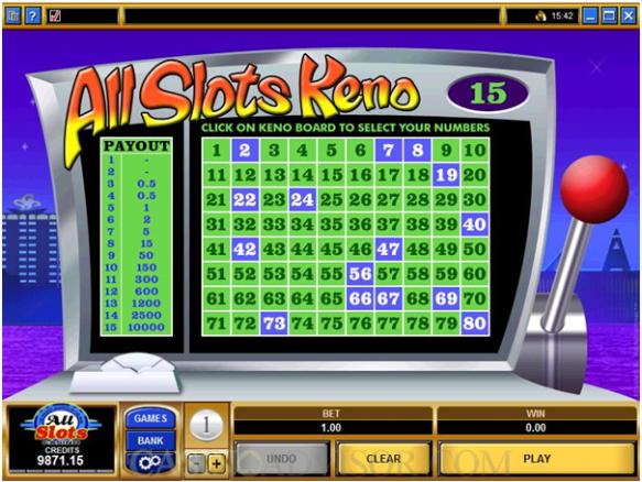 Online Keno Free Games