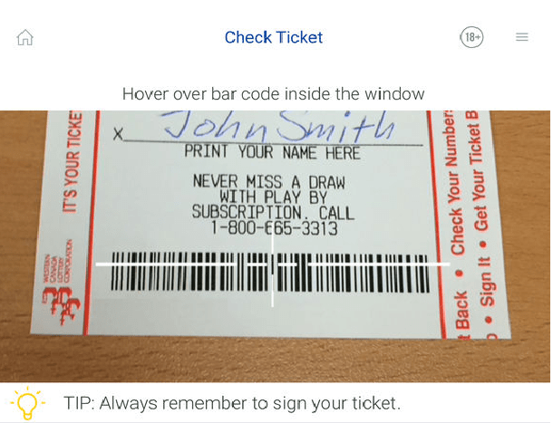 Check ticket with iPad