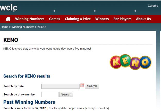 Keno results