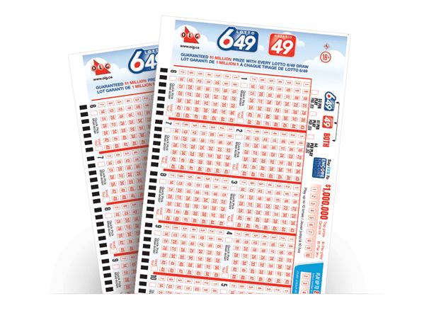 Lotto 649 lottery ticket