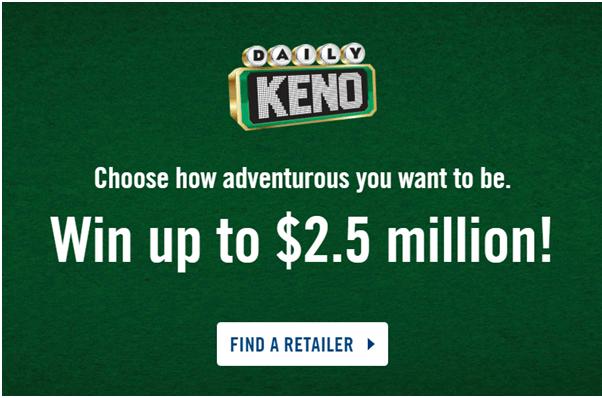 Daily Keno Lottery