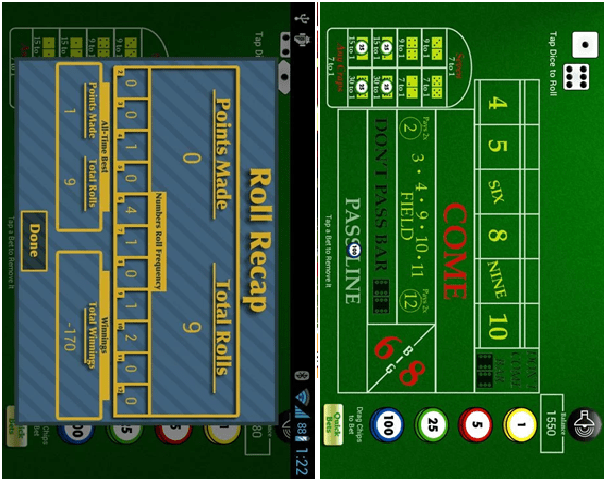 Best Craps App for Android- Play for free, real money or to