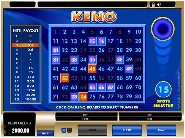 Royal Vegas Keno