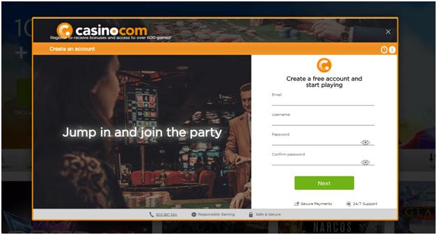 Casino.com to play keno in Canada