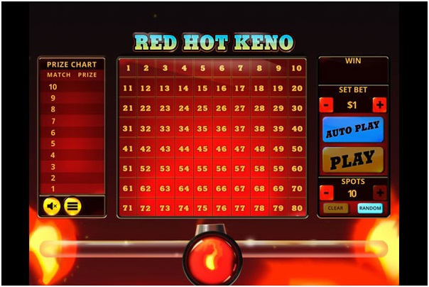 red hot keno game