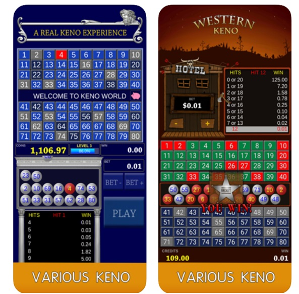 Keno World app