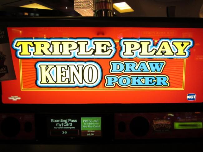 Playing Keno Draw Poker Video Poker
