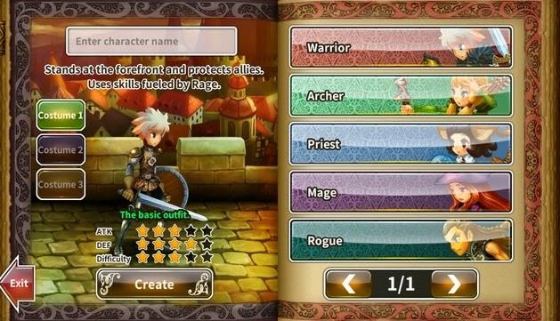 Dragon Blaze Character Classes