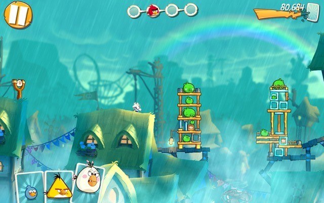 Angry Birds 2 - destroy piggy structures to fill the destructometer