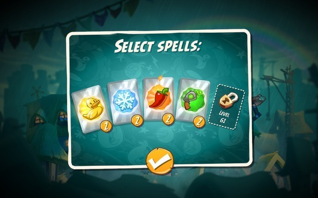 Selecting spells in Angry Birds 2