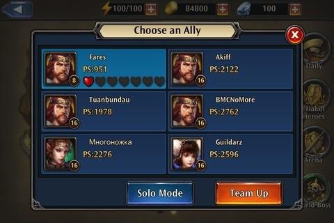 Choose an Ally