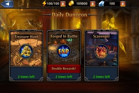 Play Daily Dungeon for Rewards