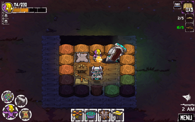Building a Shelter in Crashlands