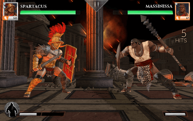 Gods of Rome fight Screen