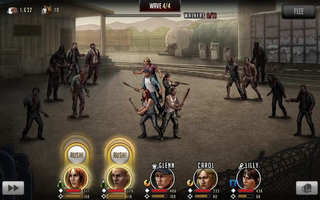 The Walking Dead Road to Survival Combat Scene