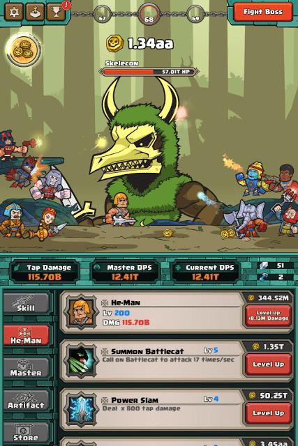 Upgrade He-Man's Skill