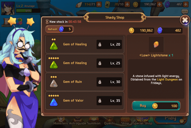 Use Gems to Make Monsters Stronger
