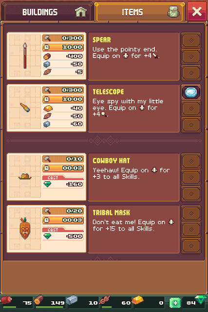 Items Provide Skill Bonuses