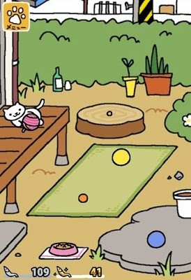 Tap the Paw Icon in the Backyard