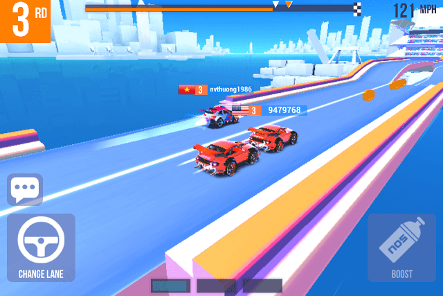 Slipstream and get past opponent racers