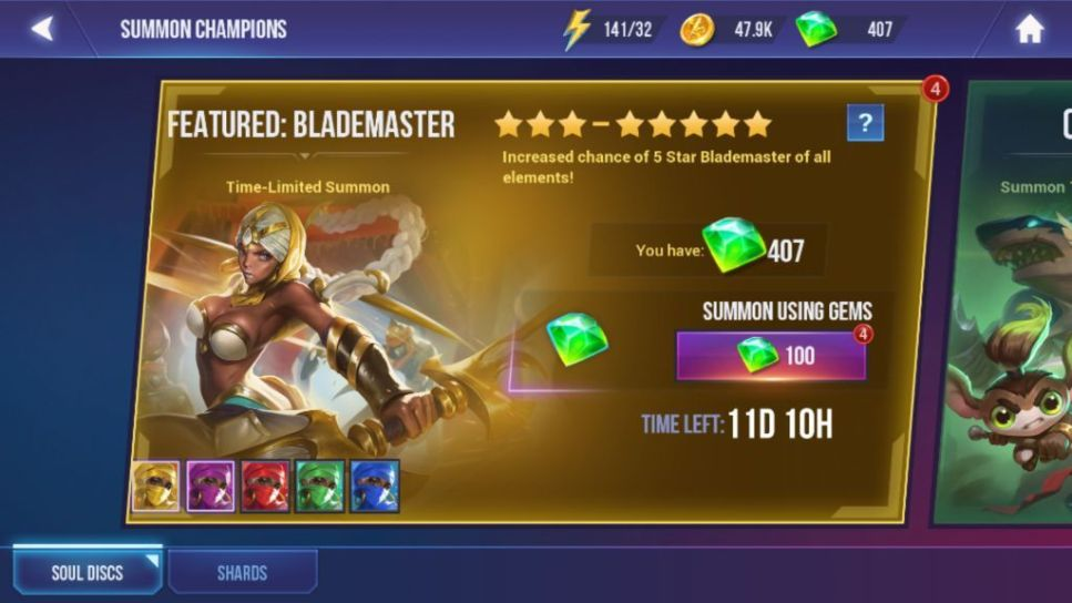 Buy Characters Using Gems