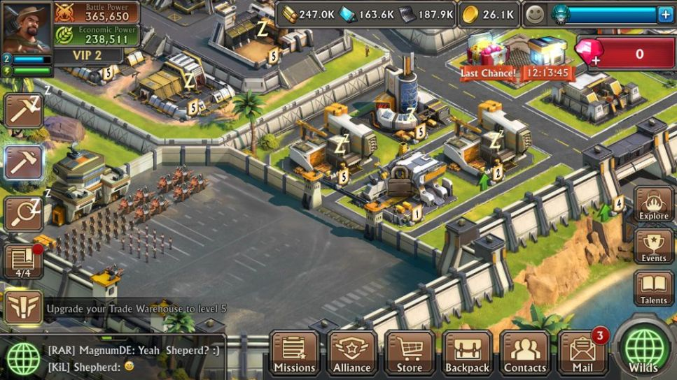 Troop Buildings in Dino War