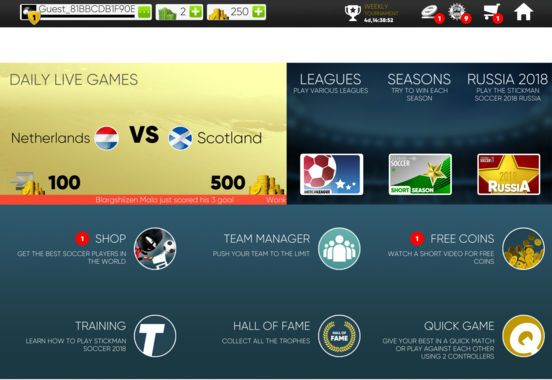 Leagues Seasons and a World Cup Mode