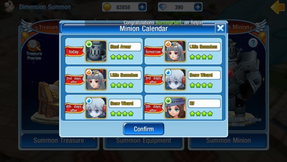Check minion availability via calendar