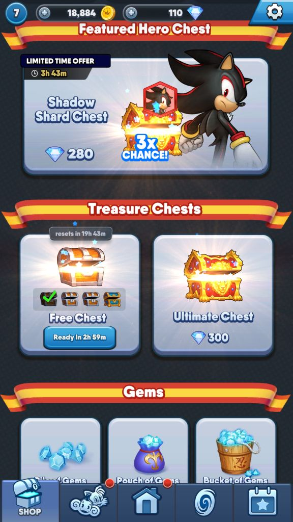 Get Free Hero Shards from Treasure Chests