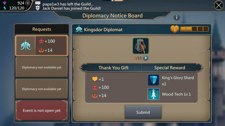 Diplomacy Notice Board