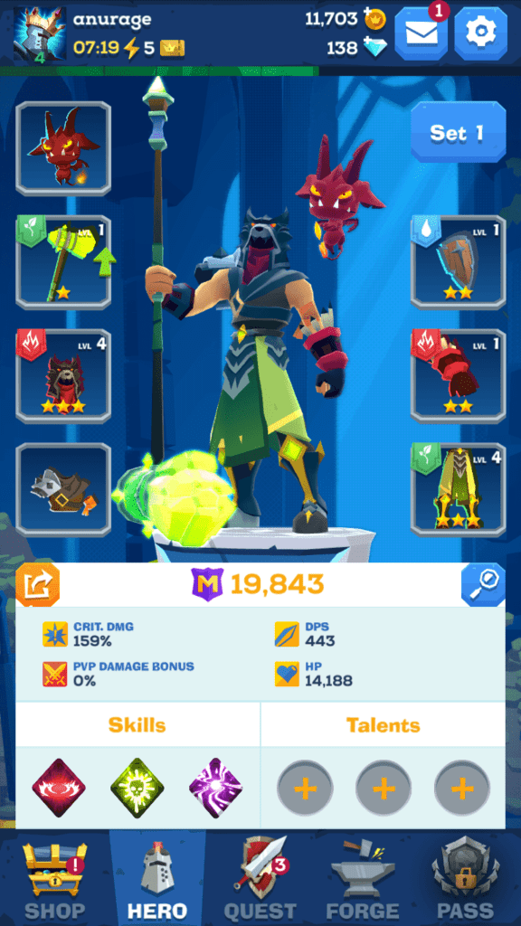 The Mighty Quest for Epic Loot Gear Set