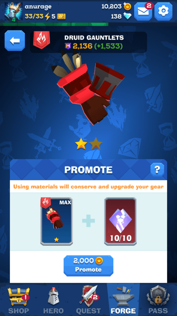 Promote Maxed-Out Gear