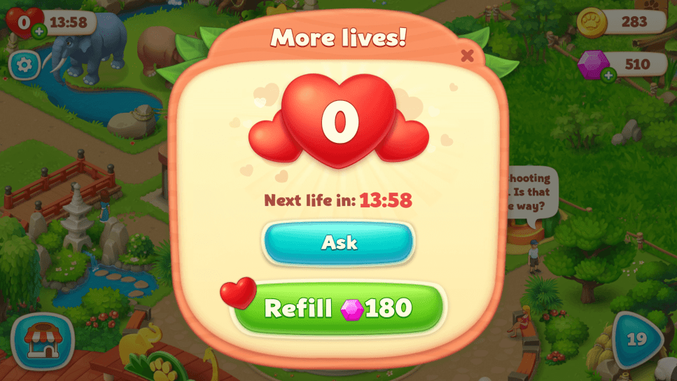 Use Rubies to get More Lives