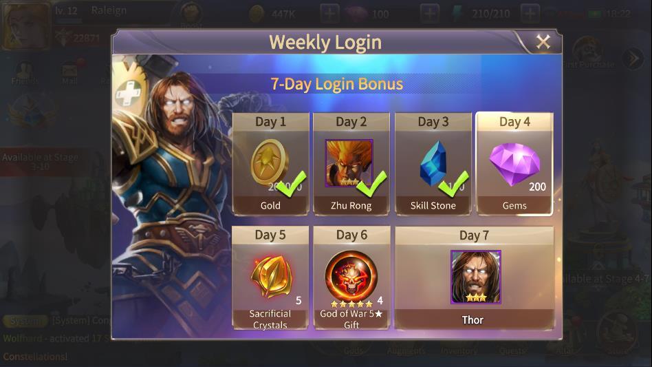 Weekly Login Rewards