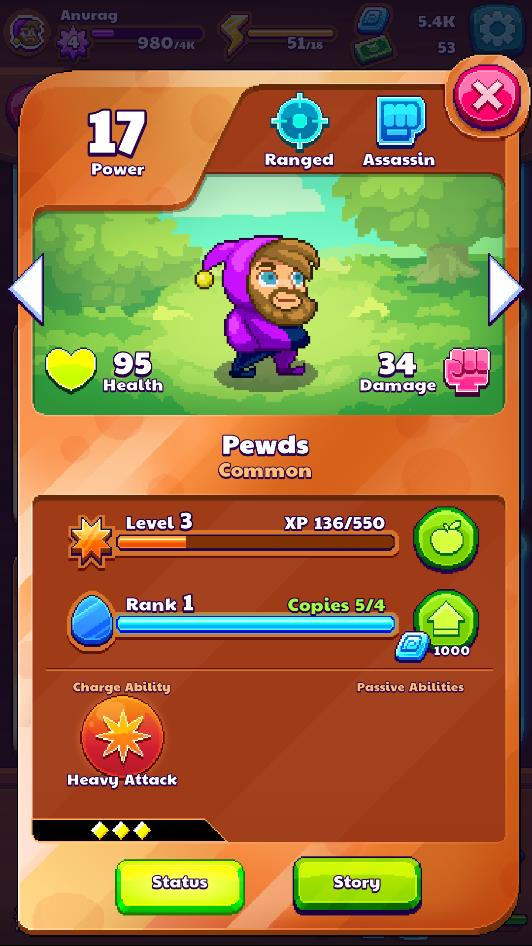 Know a Pixeling's attack style and abilities on its info page
