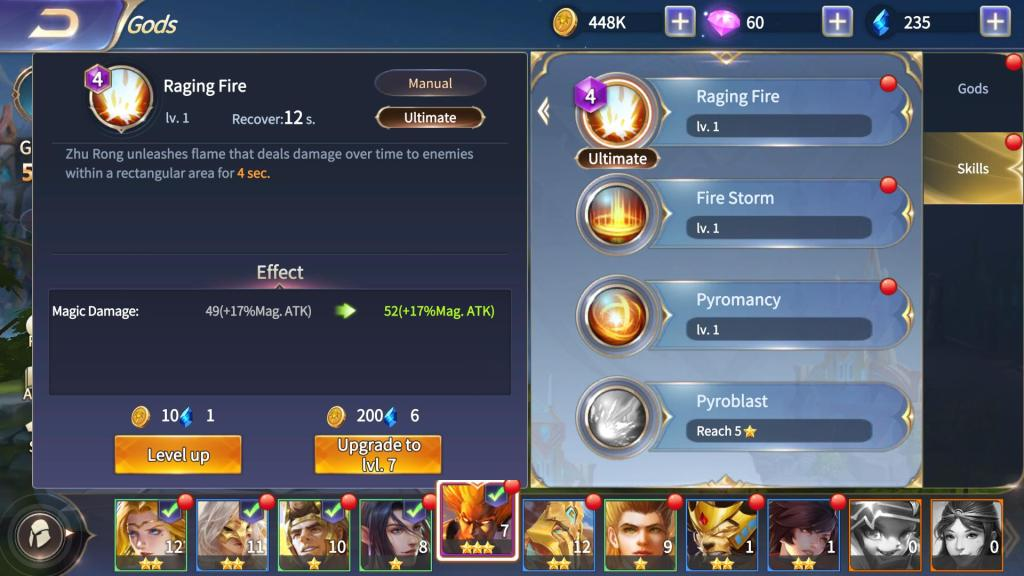 Take a Look at Mana Cost and Recovery Time Before Selecting a God